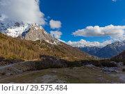 Mountains in Triglav park in Slovenia (2017 год). Стоковое фото, фотограф Михаил Коханчиков / Фотобанк Лори
