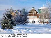 Купить «Дворец царя Алексея Михайловича в Коломенском», фото № 29577020, снято 17 декабря 2018 г. (c) Natalya Sidorova / Фотобанк Лори