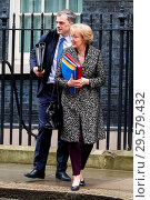 Купить «Ministers departs from No 10 Downing Street after attending the weekly Cabinet Meeting. This is the last meeting before the Easter recess. Featuring: Damian...», фото № 29579432, снято 27 марта 2018 г. (c) age Fotostock / Фотобанк Лори