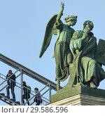 Лестница на колоннаду Исаакиевского собора. Санкт-Петербург (2016 год). Стоковое фото, фотограф Александр Алексеев / Фотобанк Лори