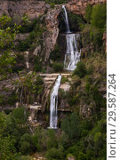 Купить «Sant Miquel del Fai with waterfall, Barcelona, Spain», фото № 29587264, снято 5 мая 2018 г. (c) Яков Филимонов / Фотобанк Лори