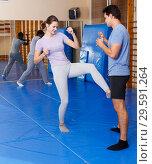 Купить «People practicing self defense techniques», фото № 29591264, снято 31 октября 2018 г. (c) Яков Филимонов / Фотобанк Лори