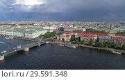 Купить «City center of St. Petersburg , Russia», видеоролик № 29591348, снято 9 сентября 2018 г. (c) Михаил Коханчиков / Фотобанк Лори