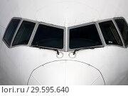 Купить «Передняя часть пассажирского самолета», фото № 29595640, снято 24 апреля 2010 г. (c) Александр Гаценко / Фотобанк Лори