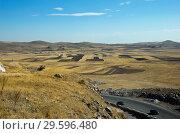 Купить «Осений сельский пейзаж, Армения», фото № 29596480, снято 29 сентября 2018 г. (c) Инна Грязнова / Фотобанк Лори