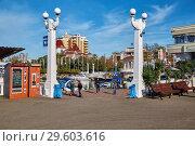 Купить «Сочи. Черное море. Набережная. Осень 2017 года», фото № 29603616, снято 1 декабря 2017 г. (c) Николай Николенко / Фотобанк Лори