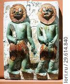 Купить «Tile showing the Warriors of Mara. 1470-1500. Glazed stoneware. Burma (Pegu) Possibly from the Shwegugyi temple. - Victoria and Albert Museum - London, England.», фото № 29614840, снято 10 декабря 2018 г. (c) age Fotostock / Фотобанк Лори