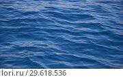 Купить «Pure blue water in the Red sea with light reflections. 4k video motion», видеоролик № 29618536, снято 24 декабря 2018 г. (c) Happy Letters / Фотобанк Лори