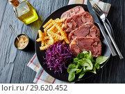 Купить «sliced terrine of beef tongue and meat», фото № 29620452, снято 18 декабря 2018 г. (c) Oksana Zh / Фотобанк Лори