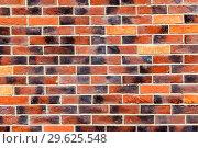 Купить «Background of old weathered red brick wall», фото № 29625548, снято 9 сентября 2018 г. (c) FotograFF / Фотобанк Лори