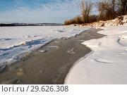 Купить «Зимний речной пейзаж», фото № 29626308, снято 12 декабря 2018 г. (c) Владимир Федечкин / Фотобанк Лори