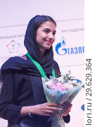 Купить «World Rapid and Blitz Chess Vice Champion Sarasadat Khademalsharieh, Iran», фото № 29629364, снято 30 декабря 2018 г. (c) Stockphoto / Фотобанк Лори