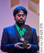 Купить «Grandmaster Hikaru Nakamura, USA on award ceremony», фото № 29629376, снято 30 декабря 2018 г. (c) Stockphoto / Фотобанк Лори