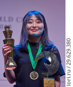 Купить «World Chess Champion Ju Wenjun, China», фото № 29629380, снято 30 декабря 2018 г. (c) Stockphoto / Фотобанк Лори