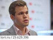 Купить «World Chess Champion Magnus Carlsen, Norway», фото № 29629396, снято 30 декабря 2018 г. (c) Stockphoto / Фотобанк Лори
