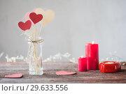 Купить «decorations for Valentine's Day», фото № 29633556, снято 7 января 2018 г. (c) Майя Крученкова / Фотобанк Лори