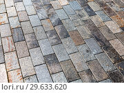 Купить «Grey paving stones as background texture», фото № 29633620, снято 9 августа 2018 г. (c) FotograFF / Фотобанк Лори