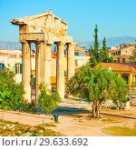 Купить «The Gate of Athena Archegetis», фото № 29633692, снято 20 октября 2017 г. (c) Роман Сигаев / Фотобанк Лори