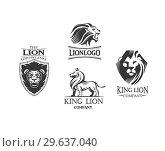 Купить «Emblems with Lions», иллюстрация № 29637040 (c) Миронова Анастасия / Фотобанк Лори