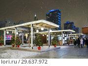 Купить «Москва новогодняя. Живые ёлочки на Новом Арбате», эксклюзивное фото № 29637972, снято 19 декабря 2018 г. (c) Dmitry29 / Фотобанк Лори