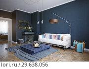 modern living room interior. Стоковое фото, фотограф Виктор Застольский / Фотобанк Лори