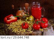 Купить «Ingredients for Pasta», фото № 29644748, снято 22 января 2017 г. (c) Марина Володько / Фотобанк Лори
