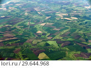 Купить «Farmland from great height in the Krasnodar Territory of Russia», фото № 29644968, снято 29 мая 2018 г. (c) Володина Ольга / Фотобанк Лори