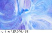 Купить «Colored paint beautiful spread in liquid, realtime shot», видеоролик № 29646488, снято 5 июля 2020 г. (c) Dzmitry Astapkovich / Фотобанк Лори