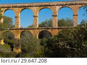 Купить «Pont de les Ferreres, Tarragona, Spain», фото № 29647208, снято 31 января 2018 г. (c) Яков Филимонов / Фотобанк Лори