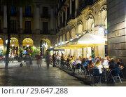 Купить «Placa Reial in Barcelona, Spain», фото № 29647288, снято 1 сентября 2017 г. (c) Яков Филимонов / Фотобанк Лори