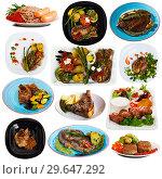 Купить «Set of beef and pork dishes», фото № 29647292, снято 17 июля 2019 г. (c) Яков Филимонов / Фотобанк Лори