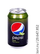 Купить «Pepsi Lime», фото № 29647852, снято 5 января 2019 г. (c) Art Konovalov / Фотобанк Лори