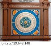 Купить «Любек, Германия. Фрагмент астрономических часов в церкви Святой Марии (Marienkirche zu Luebeck)», фото № 29648148, снято 7 ноября 2018 г. (c) Наталья Николаева / Фотобанк Лори