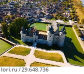 Купить «Aerial view of Chateau de Sully-sur-Loire», фото № 29648736, снято 11 октября 2018 г. (c) Яков Филимонов / Фотобанк Лори