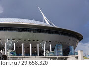 Купить «Saint Petersburg Arena football stadium on Krestovsky island», фото № 29658320, снято 8 августа 2018 г. (c) FotograFF / Фотобанк Лори