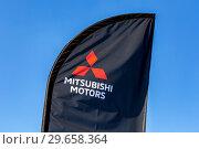 Купить «Official dealership sign Mitsubishi», фото № 29658364, снято 23 сентября 2018 г. (c) FotograFF / Фотобанк Лори