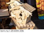 Купить «Handmade decorative wooden nesting boxes for birds», фото № 29659336, снято 17 февраля 2018 г. (c) FotograFF / Фотобанк Лори