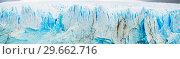Купить «Vertical edge of glacier Perito Moreno», фото № 29662716, снято 6 июня 2020 г. (c) Яков Филимонов / Фотобанк Лори
