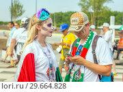 Купить «Russia, Samara, June 2018: Mexican cheerleaders decorated for the holiday Day of the Dead.», фото № 29664828, снято 2 июля 2018 г. (c) Акиньшин Владимир / Фотобанк Лори