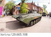 Купить «Russian infantry fighting vehicle BMP-2», фото № 29665108, снято 6 мая 2017 г. (c) FotograFF / Фотобанк Лори