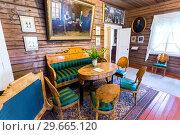 Купить «Interior of the museum Alexander Suvorov in the museum-homestead», фото № 29665120, снято 22 июля 2017 г. (c) FotograFF / Фотобанк Лори