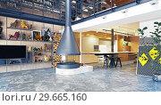 Купить «modern loft interior», фото № 29665160, снято 17 января 2019 г. (c) Виктор Застольский / Фотобанк Лори