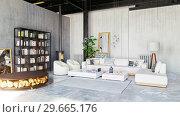 Купить «modern loft living room interior.», фото № 29665176, снято 20 января 2019 г. (c) Виктор Застольский / Фотобанк Лори