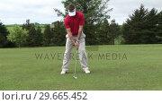 Купить «Man Playing Golf», видеоролик № 29665452, снято 7 июня 2007 г. (c) Wavebreak Media / Фотобанк Лори