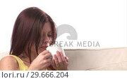Купить «Woman Pensive with Coffee», видеоролик № 29666204, снято 15 февраля 2008 г. (c) Wavebreak Media / Фотобанк Лори