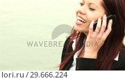 Купить «Businesswoman Working outdoors», видеоролик № 29666224, снято 15 февраля 2008 г. (c) Wavebreak Media / Фотобанк Лори