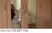 Купить «Woman Drying Hair», видеоролик № 29667192, снято 8 июля 2020 г. (c) Wavebreak Media / Фотобанк Лори