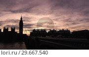 Купить «Big Ben in London», видеоролик № 29667540, снято 19 июля 2019 г. (c) Wavebreak Media / Фотобанк Лори