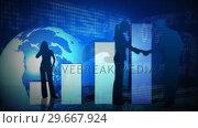 Купить «Business people in Communication 6», видеоролик № 29667924, снято 27 июня 2019 г. (c) Wavebreak Media / Фотобанк Лори