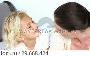 Купить «Mother talking with her Daughter», видеоролик № 29668424, снято 5 апреля 2009 г. (c) Wavebreak Media / Фотобанк Лори
